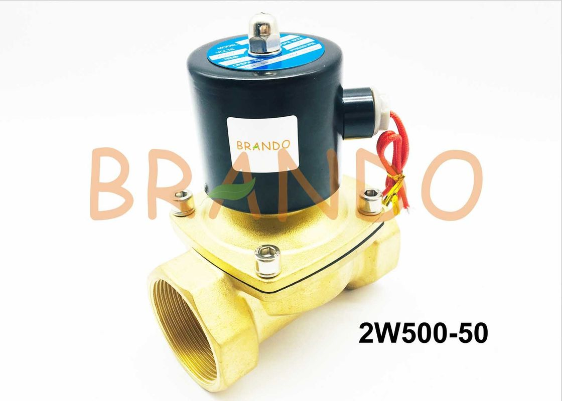 "Direct Drive Pneumatic Water Valve / Solenoid Control Valve 2W500-50 With 2"" Pipe"