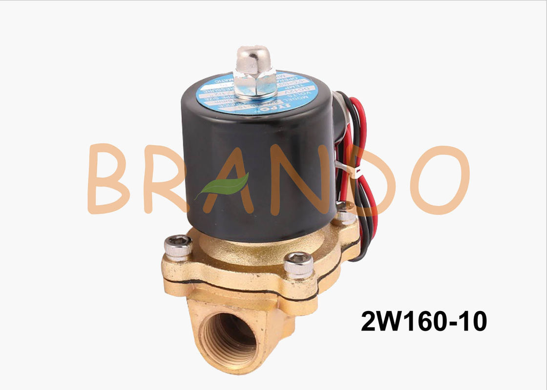 24V DC 3/8 Inch Brass Water Solenoid Valve 2W160-10 For Water Treatment