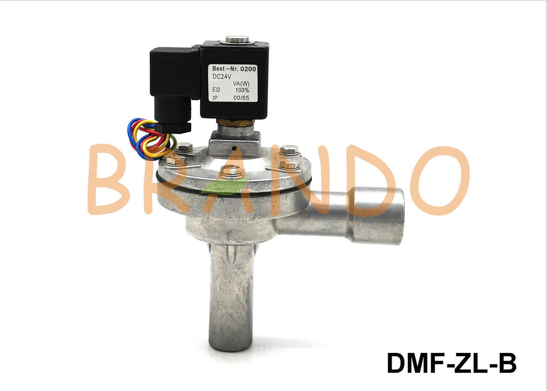3/4'' Thread Inlet Pulse Jet Valves Right Angle Type AC 220V / 24V DC φ27 Out