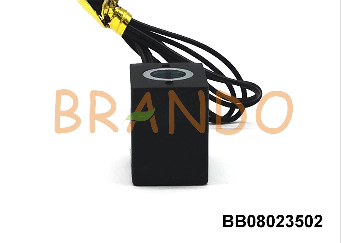 4V110 Series Valve Solenoid Coil With Flying Leads φ8 Diameter Plastic / Brass Material