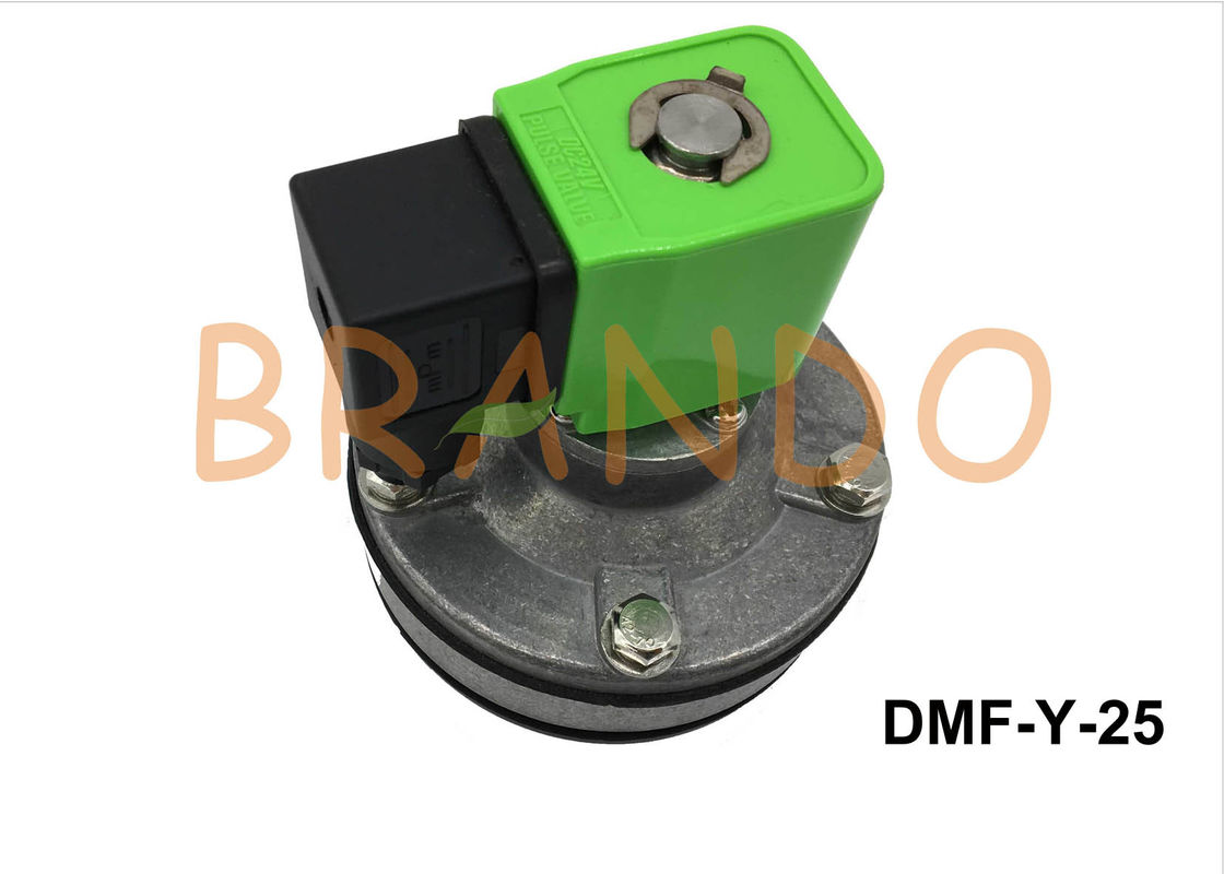 Size 1 Inch Y Type 0.3-0.8MPa Working Pressure Green Color Dust Collector Valve DMF-Y-25