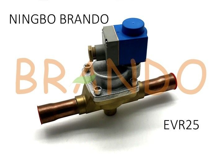 Danfoss Type 032L2205 EVR 25 Solder Connection Servo Operated Solenoid Valve With Coil Assembled
