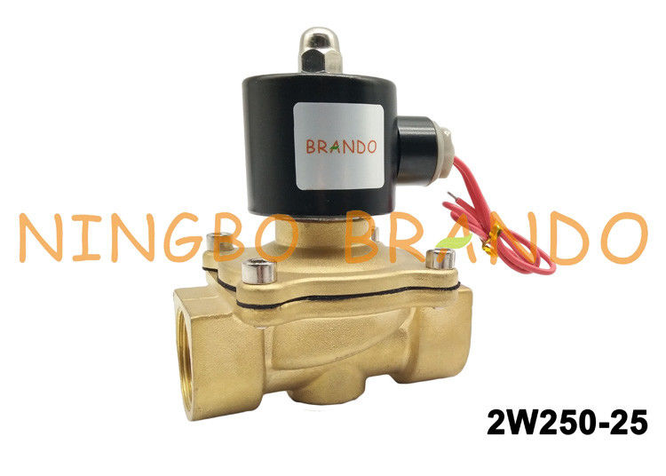 "2W250-25 Brass Body G1"" Inch Operated Normal Close Pneumatic Solenoid Valve DN25"