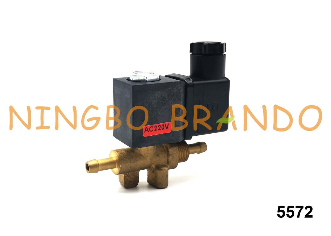 AC220V / DC24V CEME Type 5572 Steam Solenoid Valve 2 Way NC For Steam Iron / Coffee Machine