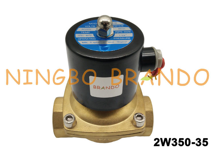 "2/2 Way NC 1-1/4"" Inch Direct Acting AC220V Brass Body Water Treatment UW-35 Uni-D Type 2W350-35"