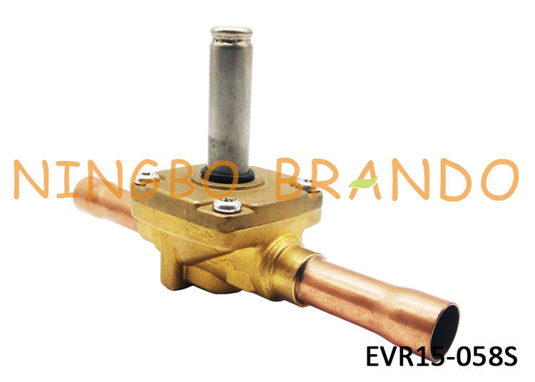 "032L1228 s Type EVR15 5/8"" Solenoid Vave For Refrigeration System And Air Conditioning Brass Body Without Coil"