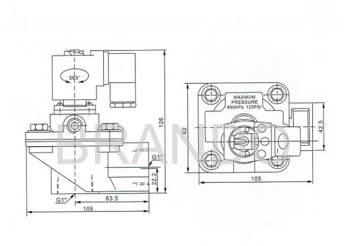 ca25t thread pneumatic pulse 110v ac solenoid valve   1