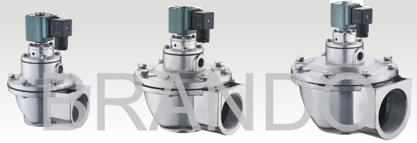 Chemical Industry 3 / 4 Inch Solenoid Valve DMF-Z-20 With ADC Aluminum Small Cap