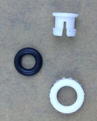 White Pom Claw Pipelines Reverse Osmosis Spare Parts , RO Fittings Parts