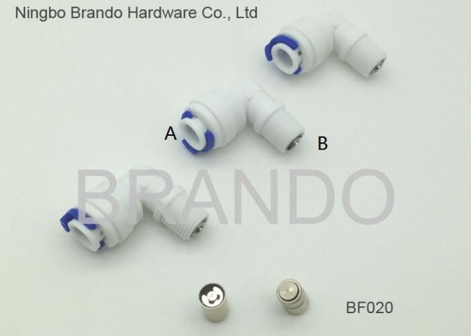 "1/8"" 1/4"" 3/8"" 1/2"" Reverse Osmosis Parts Male Thread to Push In Fast Coupling Adapter"