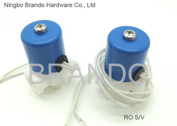 White Flying Lead Wire 50mm Blue Cap Water Solenoid Valve for RO Water Purifier System