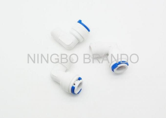 Plastic Quick Connect Pneumatic Fittings / 2 Way Pneumatic Tube Fittings