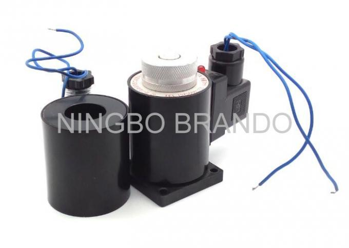 220V Black Pneumatic Solenoid Coil Normally Close Flying Lead Plastic Pulse Valve Solenoid Coil