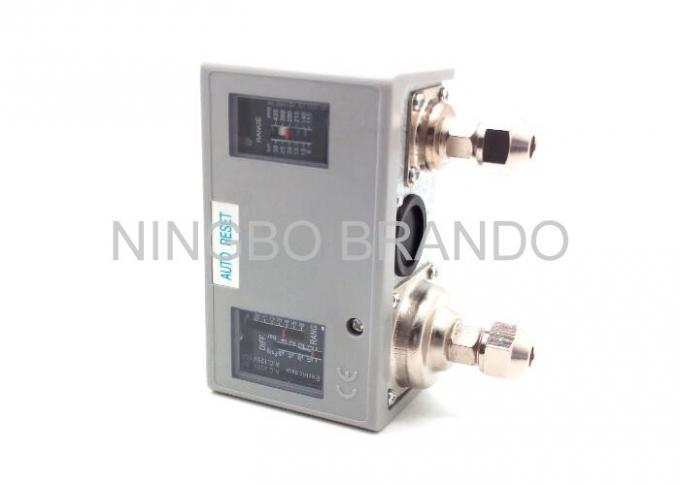 Pneumatic Pressure Switch / Electric Air Pressure Switch With Dual Ressure Control