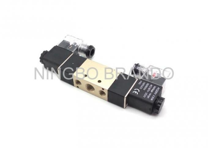 Close Type 5 way 3 position pneumatic valve , solenoid water valve
