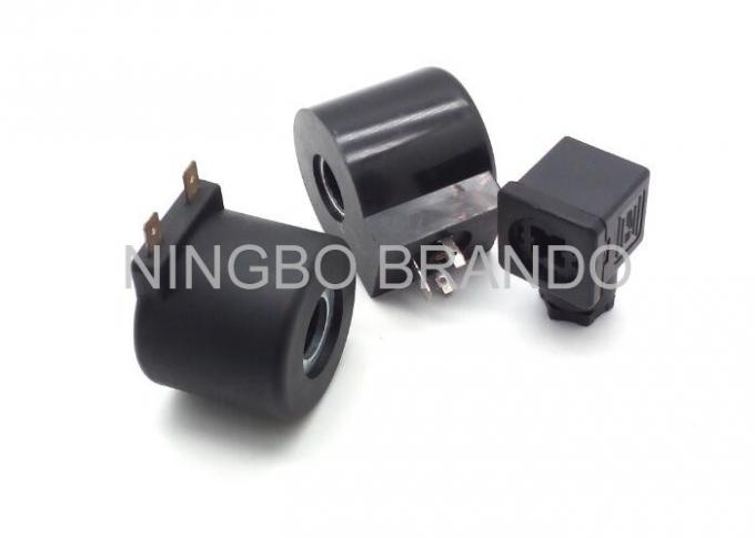 Black Enamel Insulated Wire Pneumatic Solenoid Coil , Replacement Solenoid Coil