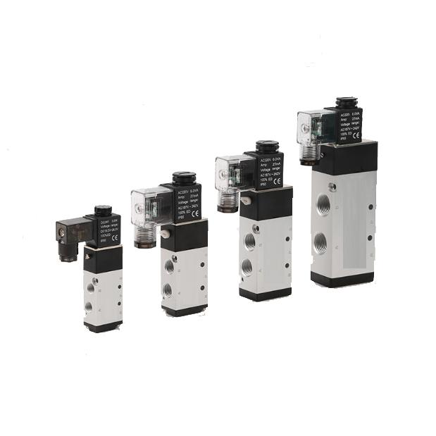 4V320-10 BSP 3/8'' Inch 5 Way Automatic Solenoid Valve AC220V Pneumatic Parts