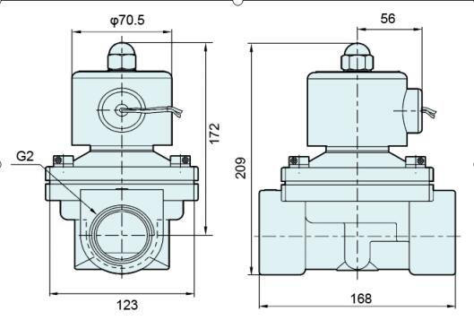 "Normal Closed 2 Way 2 Position Solenoid Valve / 2"" Inch Stainless Steel Water Valve"
