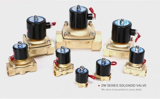 Air Water Oil Gas Pneumatic Solenoid Valve Normal Close With Copper Coil