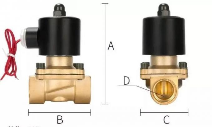 Normally Close Solenoid Operated Valve / Connection Brass Solenoid Valve 2W-160-15