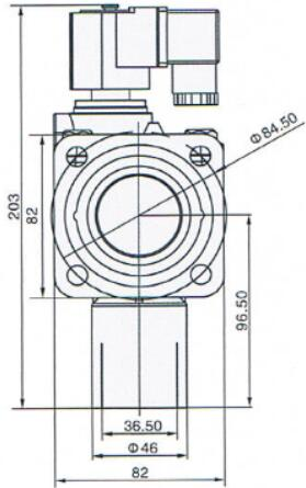 "Right Angle 1"" Inch Flange Pulse Solenoid Valve / Aluminum Dust Collector Valve"