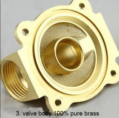 1/4'' Inch Golden Yellow Color 2V Water Control Valve 2W025-08 made of Superior Brass