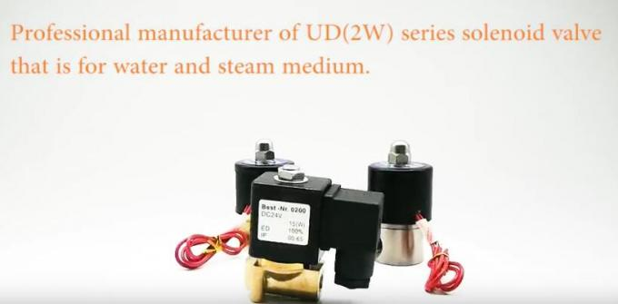Viton Seal Brass Body Pneumatic Solenoid Valve 2W Series 2 Way DC24V UD-06H For Water / Steam 5