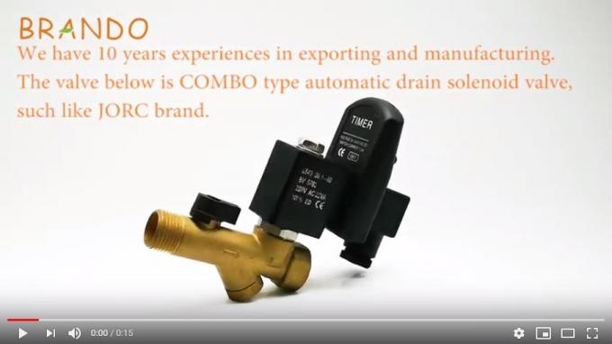 COMBO / COMBO-D-LUX / COMBO-QUICKSET Jorc Type Timer Controlled Electronic Drain Solenoid Valve