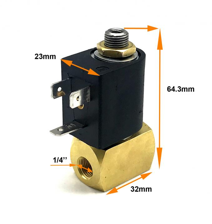 "1/4"" Inch M&M Type D399CVC Solenoid Valve Brass 3/2 NC DC24V For Auto Feeding System 0"