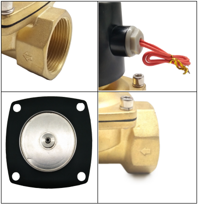 "2W350-35 UW-35 1 1/4"" UNI-D Type Brass Body NBR Diaphragm Normally Closed Solenoid Valve AC110V"