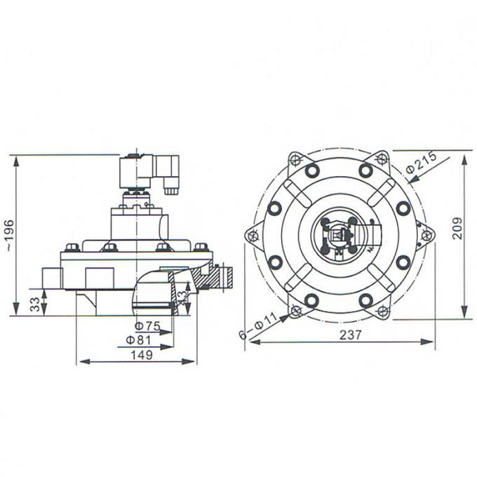 Two Position Two Way 2 1/2 Inch Goyen Type MM Series