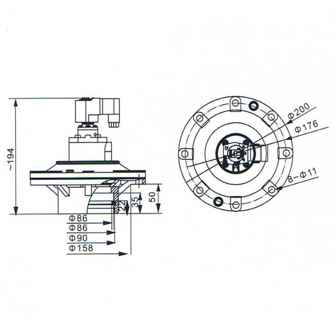 3 1/4 Inch Goyen Type MM Series Normal Closed CA89MM