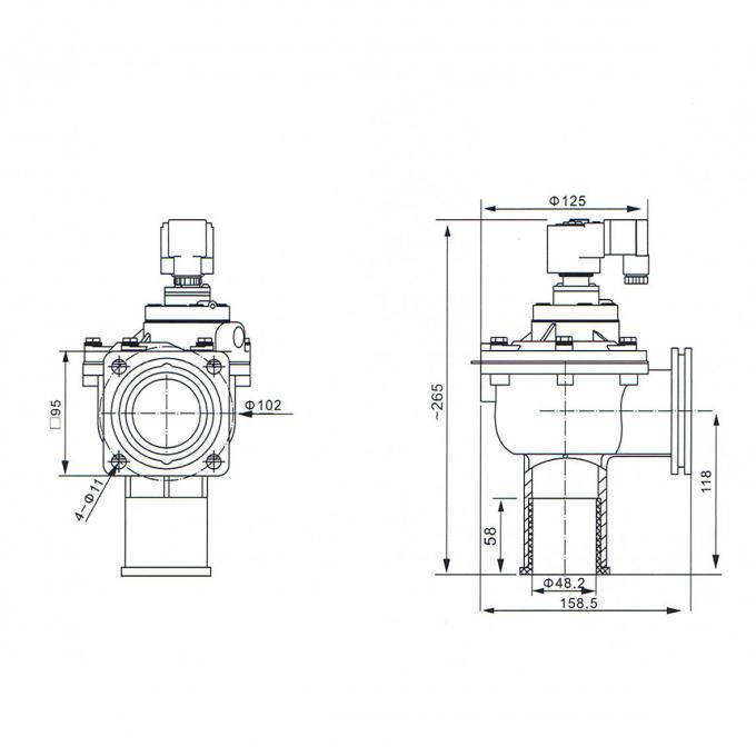 2 Inch Goyen Type Normal Closed NBR Diaphragm Flanged Connection CAC45FS Pilot Operated Solenoid Valve