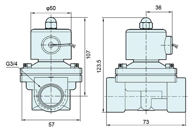 Closed Brass Body UW-20 2W200-20 G3/4 Inch Direct Acting Diaphragm Valve For Gas Water Air And Oil