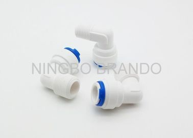 China Plastic Quick Connect Pneumatic Fittings / 2 Way Pneumatic Tube Fittings distributor