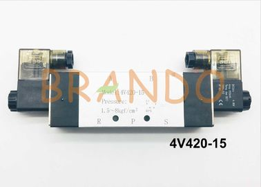 China 1/2'' Double Coils 5/2 Way Pneumatic Cylinder Valve 4V420-15 0.15-0.8MPa factory